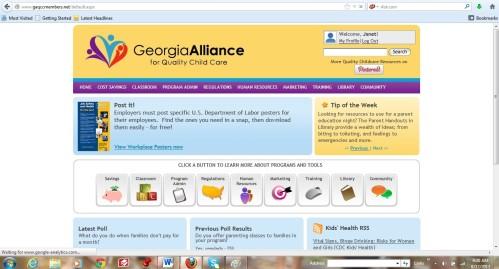 GA Shared Services Screenshot